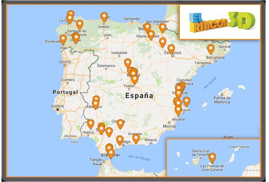 Mapa Rincones 3d España Colido Ibérica