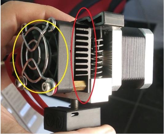filamento obstruye impresión